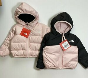 The North Face Infants Orion Reversible Down Coat Pink TNF Black 3-6M 6-12M