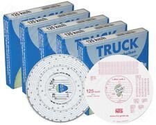 5x 100x Tachoscheiben 125-24 Diagrammscheiben für Fahrtenschreiber 125km/h