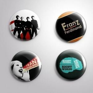 4 FRANZ FERDINAND - Pinbacks Badge Button Pin 25mm 1''