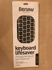 Benaw Silicone Keyboard cover Lifesaver for Apple MacBook/ Espanol / Negro - NEW