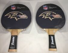 Pair Of NEW NFL Baltimore Ravens Ping Pong Table Tennis Paddles