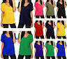 Stylish New Women Ladies V Neck Turn Up Short Sleeve Loose Baggy Fit T Shirt Top