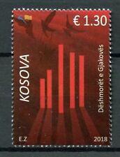 Kosovo 2018 MNH Gjakova Martyrs 1v Set Military & War Stamps
