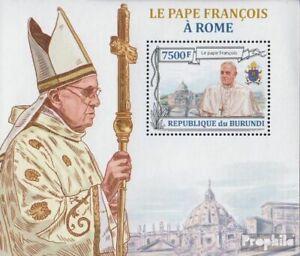 Burundi block360 (complete issue) unmounted mint / never hinged 2013 Pope Franzi