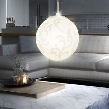 Decken Pendel Leuchte Glas Kugel Schirm Decken Hänge Lampe Wohn Ess Zimmer Rund
