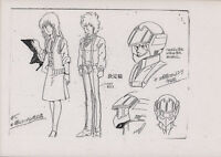 Macross Robotech Anime Settei Character Model Sheets for Cel Mikimoto Vintage