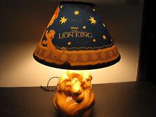 DISNEY'S Vintage THE LION KING - SIMBA & MUFASA Ceramic Lamp