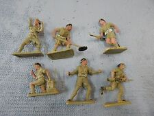 Crescent toy soldiers 54mm plastic 8th Army made in England