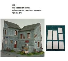 WWII diorama villa house french WWII germany ruins building 1/35 resina