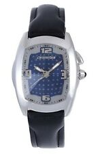 Chronotech Men's Wristwatch CT.7660M/02 Blue Dial Genuine Leather