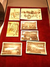 LOT OF OLD VTG BLACK & WHITE PHOTOS, INCL SEVERAL COURTROOM OR MUNICIPAL, FISH
