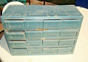 """Vintage Metal """"ROTA CHEST of Drawers""""16 Draw Storage Cabinet ,Nut/bolts etc"""
