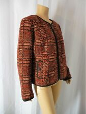 TALBOTS Jacket size 14 petite brown red Wool blend Tweed NEW NWT