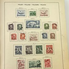 More details for poland polish stamp album / collection starting from 1950