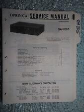 Optonica Sharp SA-5207 service manual original repair book stereo receiver tuner