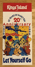 Kings Island Amusement Park Brochure Pamphlet 1972 20th Anniversary 20 Years
