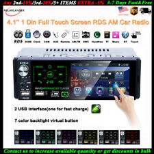 4''1 Din Car Radio Full Touch Screen 2USB AM MP5 Player FM Stereo Bluetooth RDS