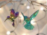 Gisela Graham Christmas Acrylic Peacock Humming Bird Tree Decoration 8cm