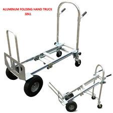 Aluminum Folding Hand Truck 3 In 1 Convertible 350kg Capacity Industrial Cart US