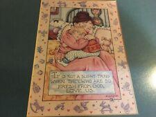 New ListingFramed Mary Engelbreit mother & child & 1st issue Nat'l Children's Stamp 1956