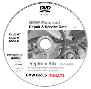 Bmw K1200 GT - R - S (2004-2013)  manuali di riparazione su dvd