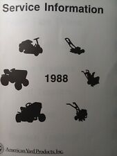 New ListingAyp American Yard Products Roper 1988 Lawn Garden Tractor Dealer Service Manual