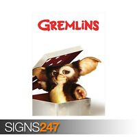 GREMLINS - CLASSIC 80S (ZZ039)  MOVIE POSTER Poster Print Art A0 A1 A2 A3