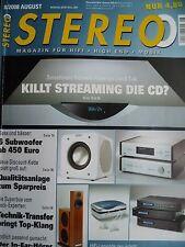 STEREO 8/08 PIONEER PDX Z9,REVOX B 160,ADV ACOUSTIC MAP 800,OPERA SECUNDA,CUBE 2