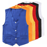 Boys Kids Gentleman Vest Waistcoat Wedding Party Formal Suit Birthday Tuxedo