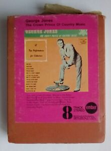 8 Track Cartridge George Jones The Crown Prince of Country Music Ember Y8EB 101
