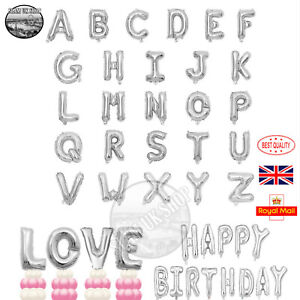 26'' Large Self Inflating Foil Balloon Alphabet A - Z Letter Birthday Name Decor