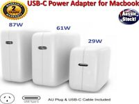 29W 61W 87W USB-C Power Adapter Charger Type-C for Apple Macbook Air Pro Laptop