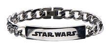 Star Wars Logo ID Curb Chain Stainless Steel Bracelet