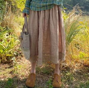 Jupe jupon brodée Mori retro vintage ancien shabby hippie chic boheme