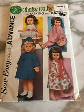 Chatty Cathy Doll Clothes Pattern Sew Easy Advance Robe Pajamas Coat 1962