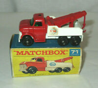 Matchbox No 71 Ford Heavy Wreck Truck Boxed 1968