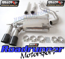 Milltek RS3 8P Exhaust Cat Back Non Res & Secondary Cat Bypass Decats BLACK Tips