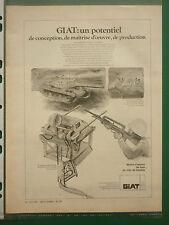 7/1977 PUB GIAT ARMEMENTS FUSIL FAMAS CHAR AMX 30 TOURELLES ORIGINAL AD