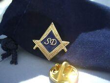 Masonic Lodge Freemason Officer SD Senior Deacon Lapel Pin Plus Gift Pouch