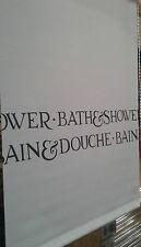 Duschrollo Duschvorhang mit Seitenzug Duschwand Duschabtrennung 45x185 cm