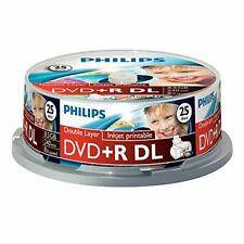 Philips DVD R DL 8.5 GB imprimable 8x vitesse Broche 25 Pièce