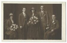 Family Group at Wedding, C 1930s RP PPC, Unposted, by J R Brunton of Burnley