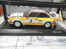 AUDI Quattro Rallye Gr.B 1984 Portugal TAP #4 Röhrl H B lim SP Minichamps 1:18