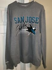 Mens Mitchell & Ness San Jose Sharks Crewneck Sweatshirt Size Large In Grey
