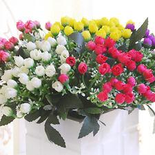 36 Heads Peony Hydrangeas Silk Flower White Wedding Decor Bridesmaid Bouquet SP