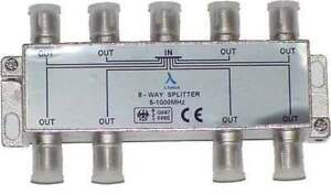 NEW ClearView 8 Way F connector splitter 5-1000MHz