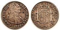 Spain-Carlos IV. 2 reales 1799. MBC+/VF+. Mexico. Plata 6,5 g.