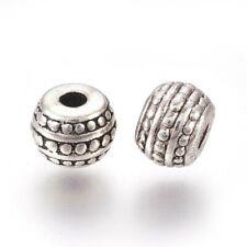 Round Rondelle Metal Beads Tibetan Silver 7x5mm x 50 pcs