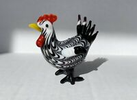 Murano Art Glass Rooster 3""