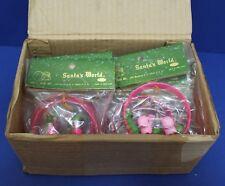 Vintage Box of 12 Santas World Christmas Ornaments w Miniature Nutcrackers Birds